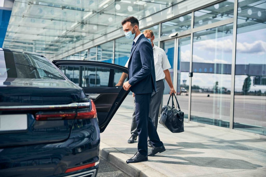 Airport Transfer Frankfurt Am Main driver picking VIP customer